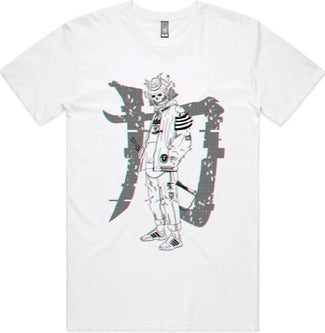 Samurai Glitch [White] | TEE