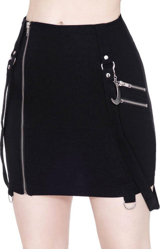 Adele [Black] | MINI SKIRT