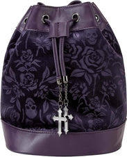 At Nightfall [Plum] | VELVET HANDBAG