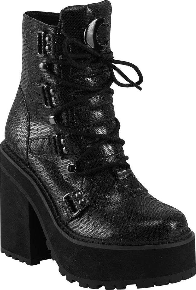 Broom Rider [Black Glitter] | BOOTS