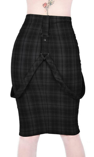 Darklands [Tartan] | PENCIL SKIRT