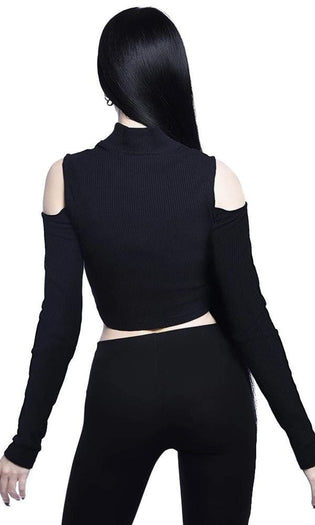 Phoebe [Black] Ribbed | TOP