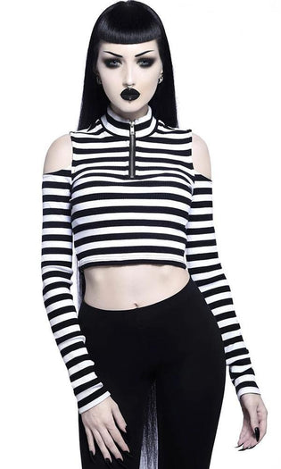 Phoebe [Black/White] Ribbed | TOP