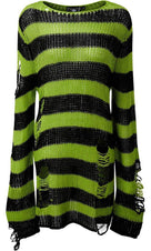 Slimer Distress | KNIT SWEATER