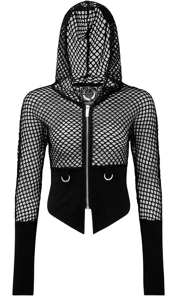 Wicked Fishnet | HOODED TOP*