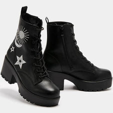 Astro Silver Star & Moon Chunky | BOOTS