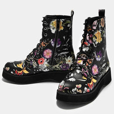 Mizu Floral Lace Up | BOOTS