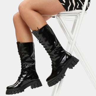 Trinity [Black] | KNEE HIGH BOOTS