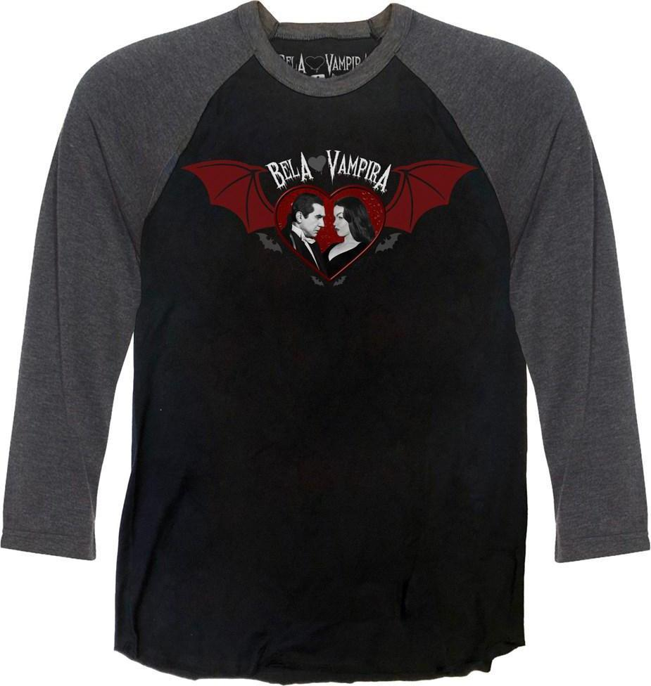 Bela Loves Vampira Bat Wing Raglan | LONG SLEEVE TEE