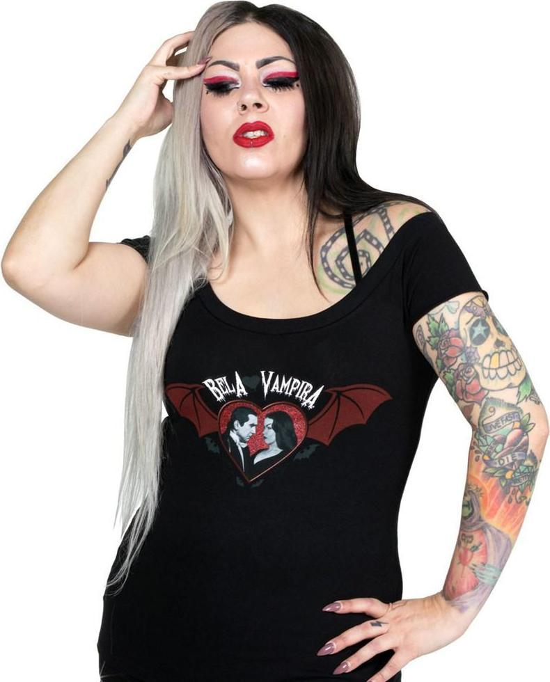 Bela Loves Vampira Bat Wing Shoulder | TEE