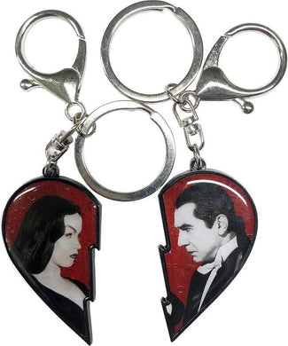 Bela Loves Vampira Broken Heart | KEYCHAIN SET