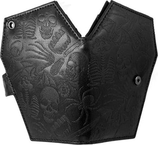 Embossed Skull Coffin | WALLET