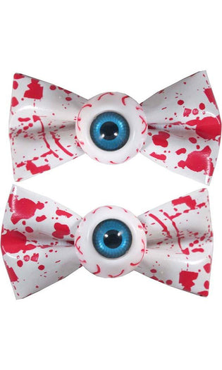 Eyeball Blood Splat White | HAIRBOW SLIDES