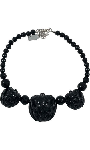 Jack O Lantern Pumpkin [Black] | NECKLACE