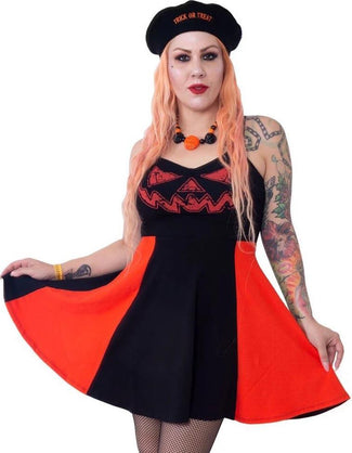 Jack O Lantern Pumpkin Pinafore | DRESS*