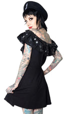 Bat [Black] | Ruffle DRESS