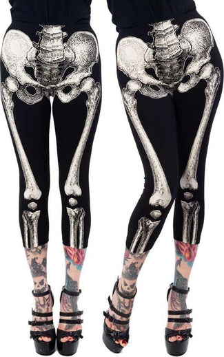 Skele-Bone [White] | CAPRI LEGGINGS