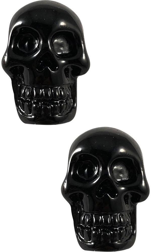 Skull Stud [Black] | EARRINGS