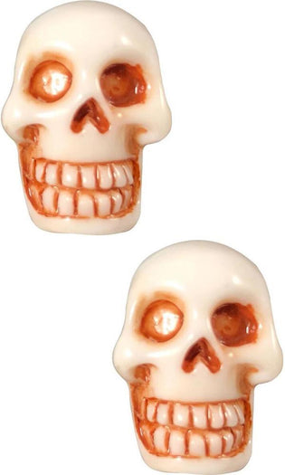 Skull Stud [White] | EARRINGS