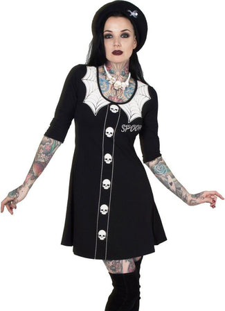 Spooky Girl Flare | 3/4 SLEEVE DRESS