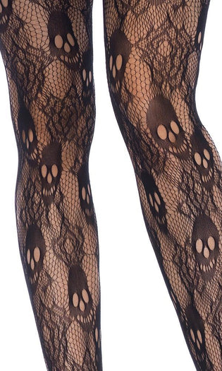 Black Rose Skull Lace | TIGHTS