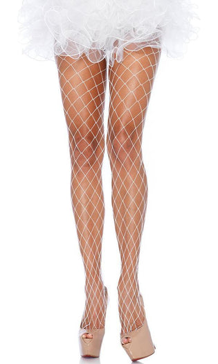 Fence Net [White] | PANTYHOSE