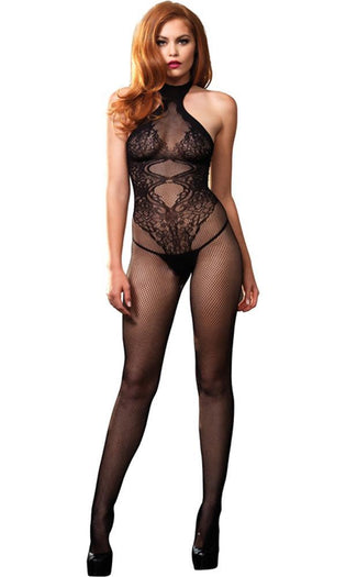 Fishnet Seamless Halter | BODY STOCKING