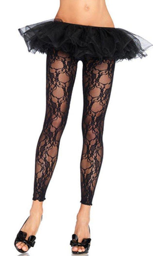 Floral Lace Footless | TIGHTS