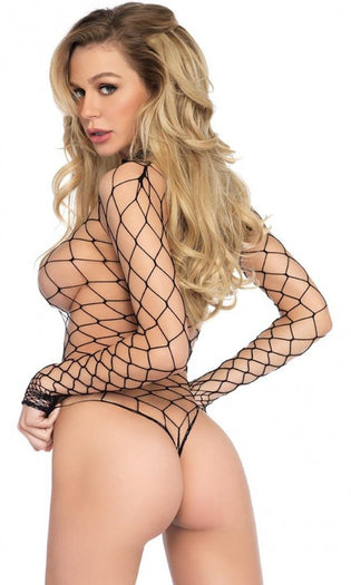 +High Neck Fence Net Long Sleeved | BODYSUIT
