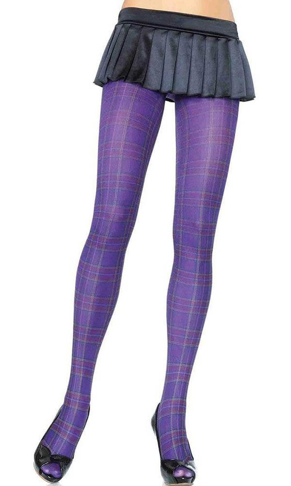 Opaque Plaid [Purple] | TIGHTS