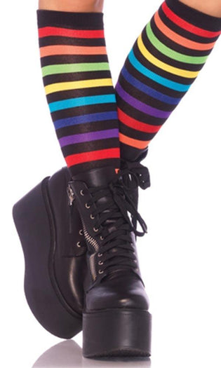 Rainbow Striped | KNEE HIGH SOCKS