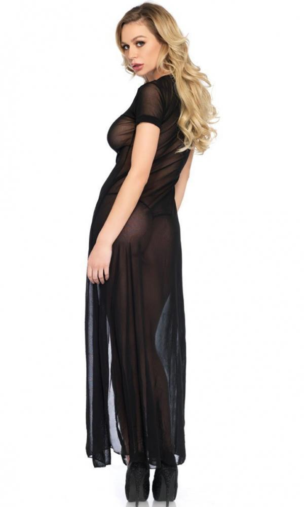 Sheer Mesh High Slit | LONG DRESS