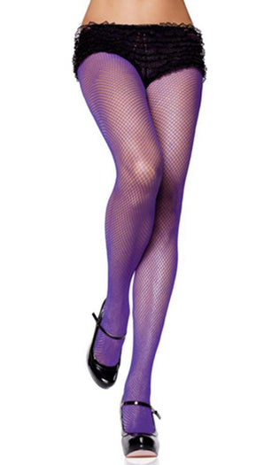 Spandex Fishnet [Purple] | PANTYHOSE