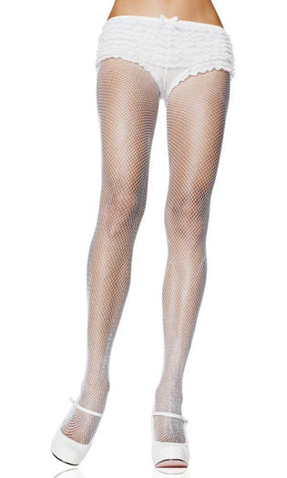Spandex Fishnet [White] | PANTYHOSE