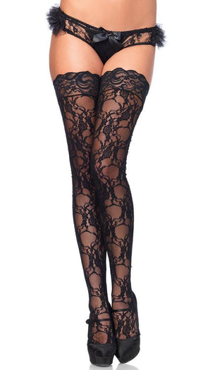 Stay Up Floral Lace | THIGH HIGH