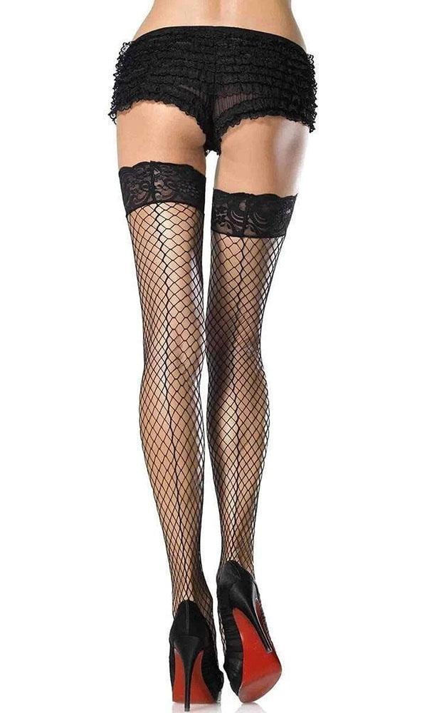 Stay Up Lycra Industrial Lace Top | THIGH HIGHS