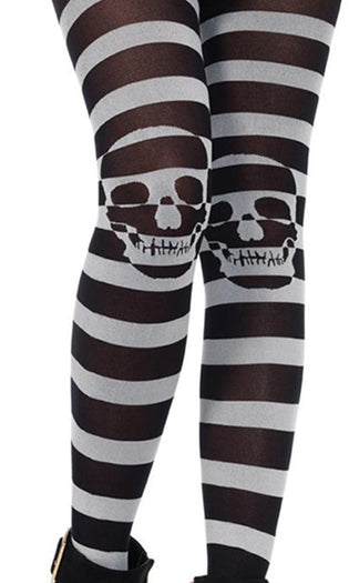 Striped Skull Illusion | TIGHTS