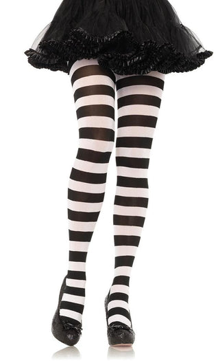 Wide Stripe Opaque | TIGHTS