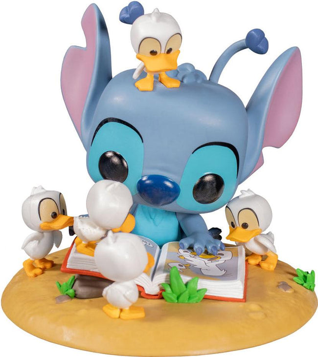 Lilo & Stitch | Stitch With Book & Ducks Deluxe POP! VINYL [RS]