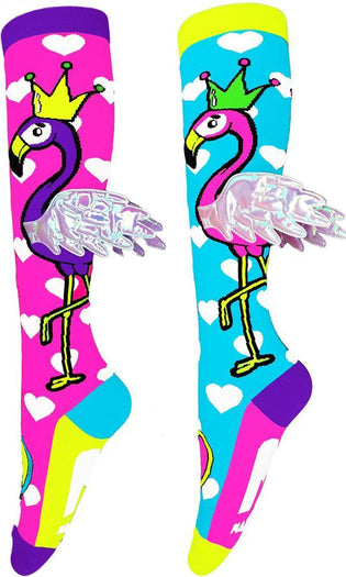 Flying Flamingo W Wings | KNEE HIGH SOCKS