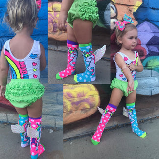Flying Unicorn W Wings Toddler | KNEE HIGH SOCKS