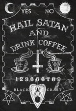 BlackCraft Hail Satan & Drink Coffee - Mens T Shirt 2