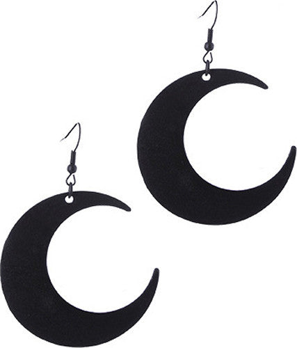 Moon  Black Earrings
