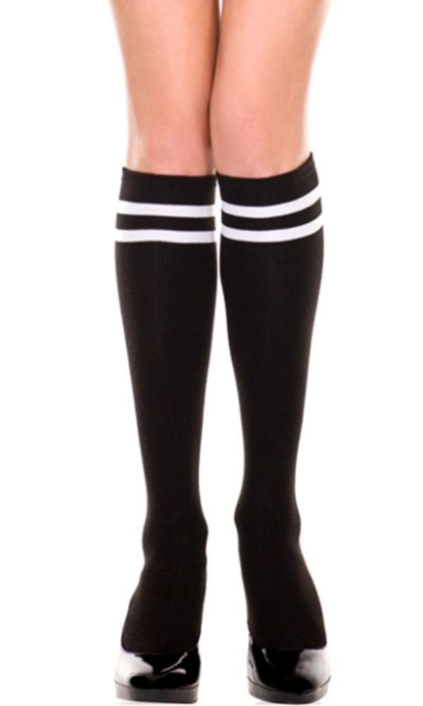 Acrylic Double Stripe | KNEE HIGH SOCKS