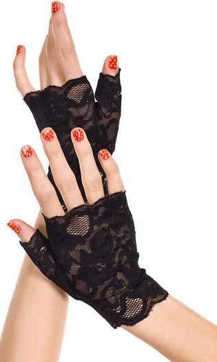 Fingerless [Black] Wrist Length | GLOVES
