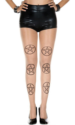 Five Point Star Pentagram | PANTYHOSE