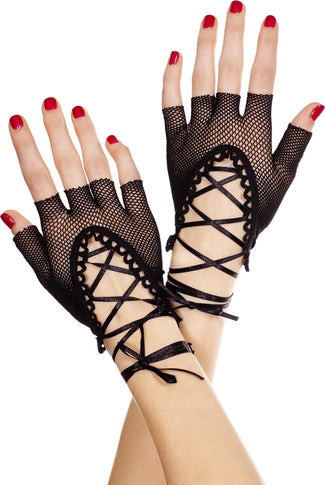 Lace Up Fingerless | GLOVES