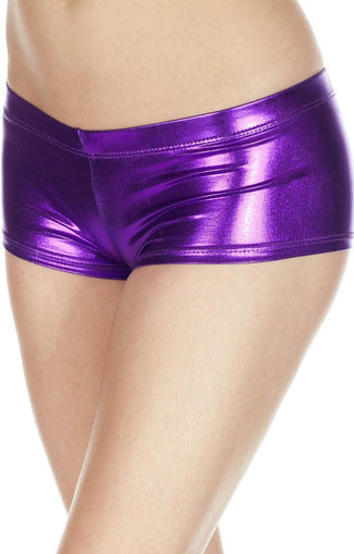Metallic [Purple] | BOOTY SHORTS