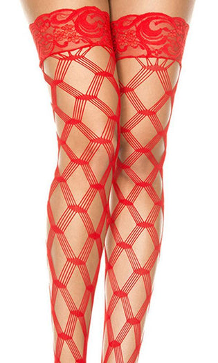 Multi Fence Net [Red] | THIGH HIGH*