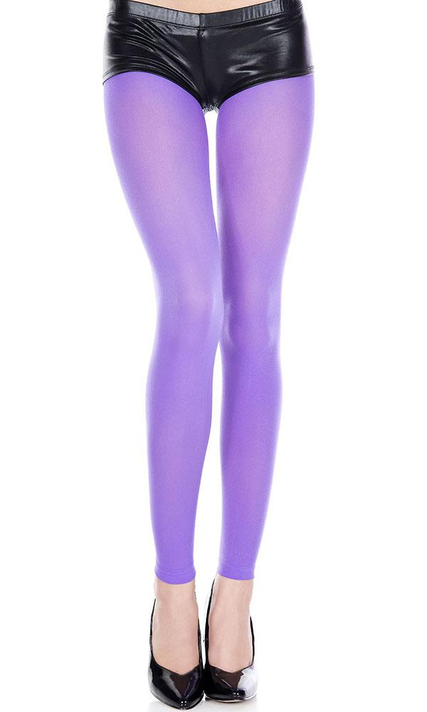 Opaque Footless [Purple] | LEGGINGS